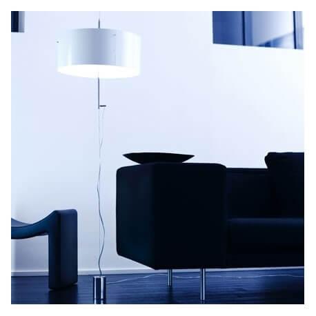 LIGHT X - lampadaire monte et baisse blanc/blanc