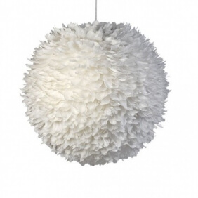 PLUME - suspension blanche