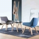 MONK - fauteuil tissu Faros