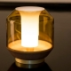 LATERALIS - lampe de table frêne et verre soufflé