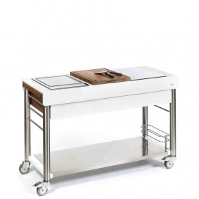 SERVEBOY ULTIMO - trolley à induction superbianco