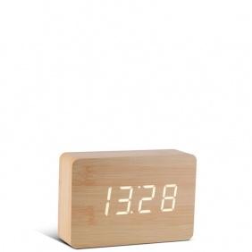 BRICK - horloge hêtre / leds blanches