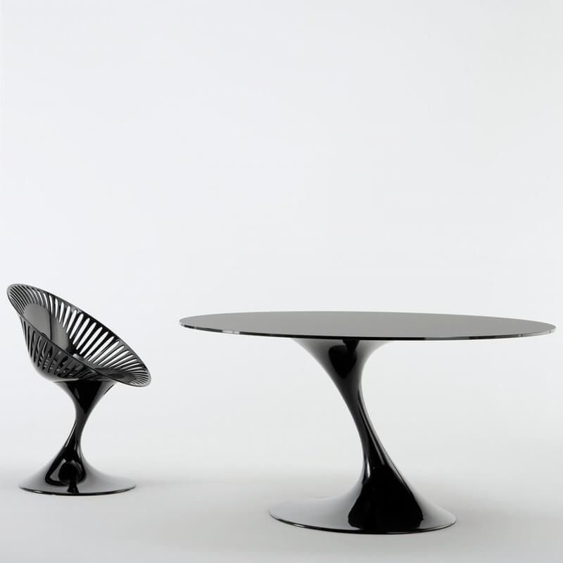 table ronde 140 cm atatlas de marcello ziliani diteur casprini. Black Bedroom Furniture Sets. Home Design Ideas