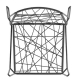 PENELOPE STRIP - chaise acier et fil Xiloplast (lot de 2)
