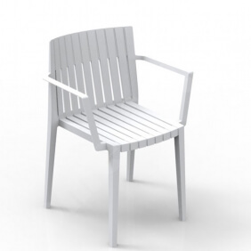 SPRITZ - chaise à accoudoirs (lot de 4)