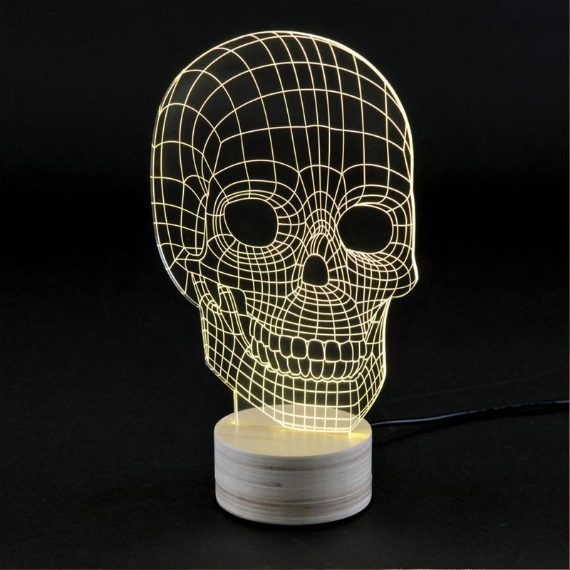 skull lampe leds lampes de table studio cheha par. Black Bedroom Furniture Sets. Home Design Ideas