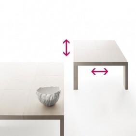 QUARTETTO - table extensible 1m30 à 1m80