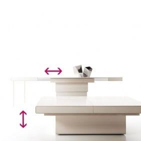 REBUS - table basse extensible 1m05 à 2m15