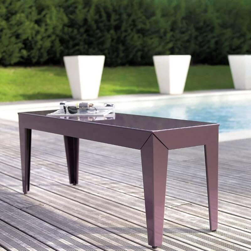 banc de jardin zef en aluminium par matiere grise. Black Bedroom Furniture Sets. Home Design Ideas