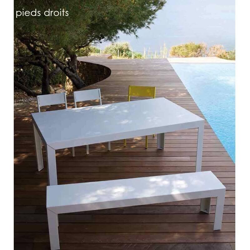 banc de jardin zef en aluminium par matiere grise. Black Bedroom Furniture Sets. Home Design Ideas