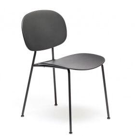 TONDINA POP - chaise acier et polypropylène (lot de2)