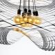 NET - suspension modulable en fer ø 100 cm