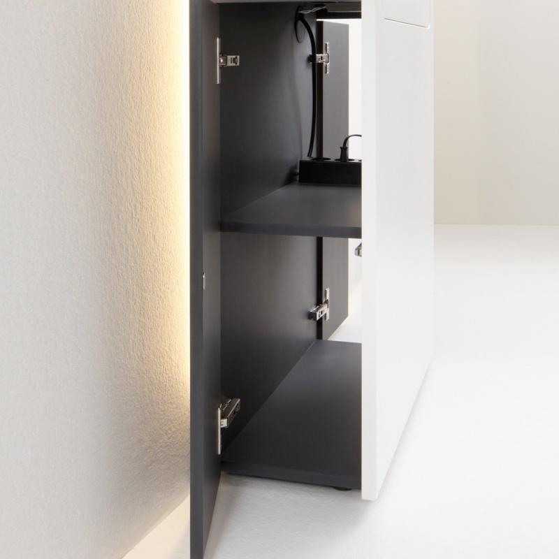 smaider secr taire blanc mat par urban favorites. Black Bedroom Furniture Sets. Home Design Ideas