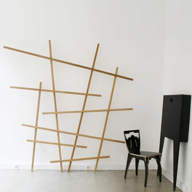etagere en chene etagre en chne l avec querres with. Black Bedroom Furniture Sets. Home Design Ideas