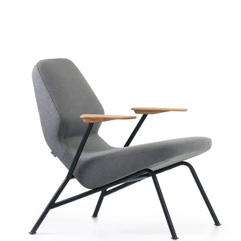 fauteuil oblique acier et tissu rico de numen for use. Black Bedroom Furniture Sets. Home Design Ideas