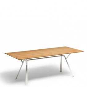 RADICE QUADRA - table teck 200 x 90 cm