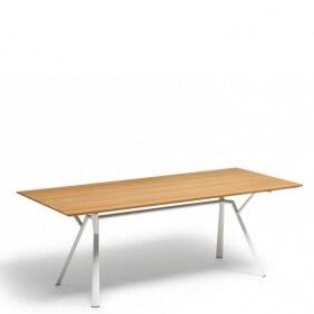 RADICE QUADRA - table teck 200 x 90 cm