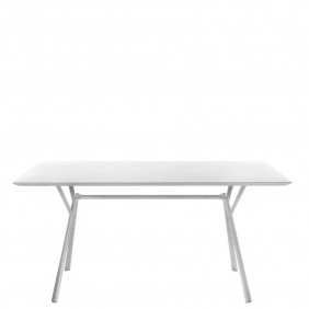 RADICE QUADRA - table carrée en aluminium 140 x 140 cm