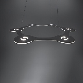 FLAT RING 6 - suspension led en aluminium ø 63 cm