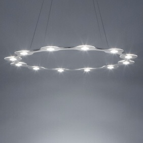 FLAT RING 12 - suspension led en aluminium ø 98 cm