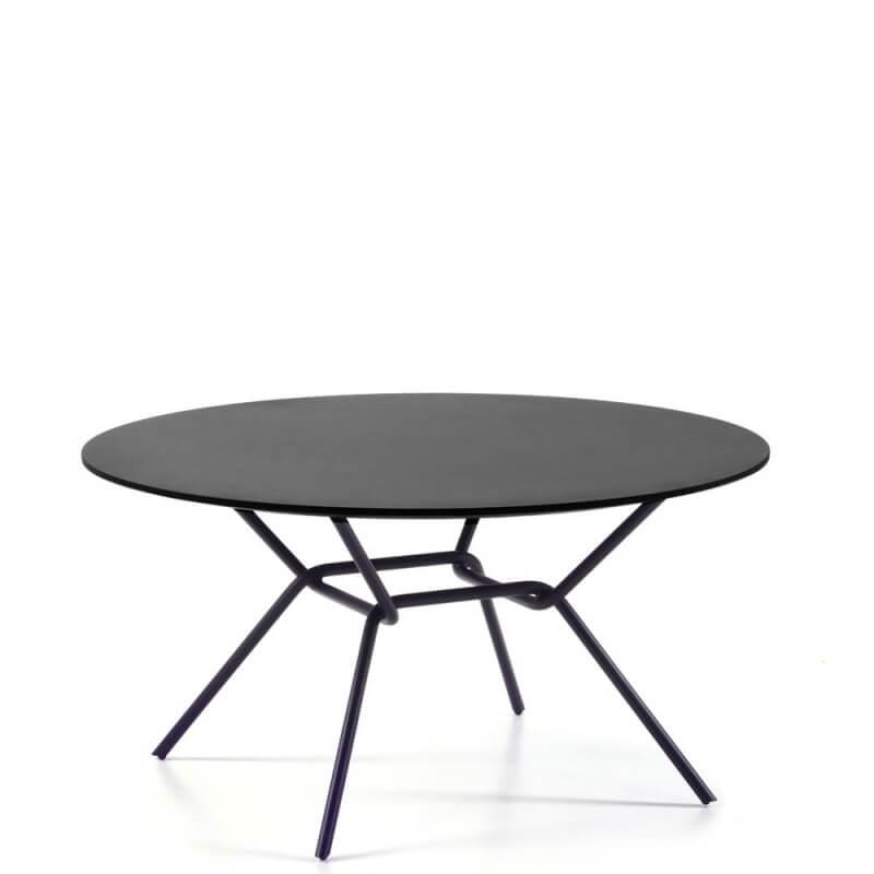 table basse strain pieds noirs plateau fenix noir. Black Bedroom Furniture Sets. Home Design Ideas