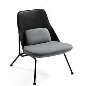 STRAIN - fauteuil cuir et tissu Synergy