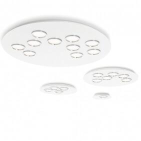 BRAC - plafonnier blanc anneaux titane