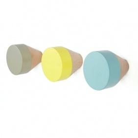 CLOU - 3 patères couleurs pastel