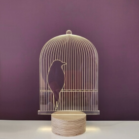 BIRD CAGE - lampe leds