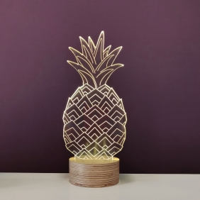 ANANAS - lampe led effet 3D
