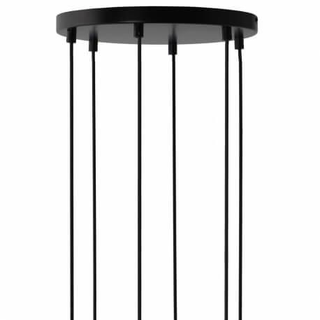 ROSACE - platine noire pour 6 suspensions
