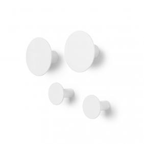 PONTO - set de 4 patères blanches