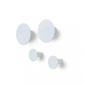 PONTO - set de 4 patères gris clair