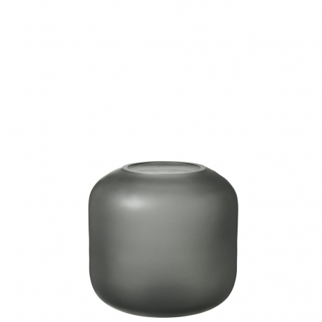 OVALO - vase 17 cm gris