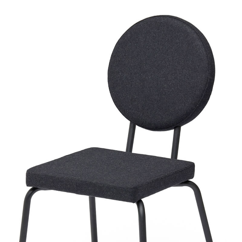 Chaise OPTION Assise Carree Et Dossier Rond