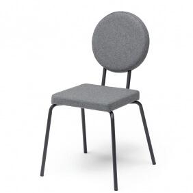 OPTION - chaise dossier rond et assise carrée