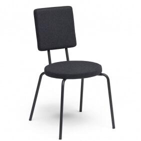 OPTION - chaise dossier carré et assise ronde