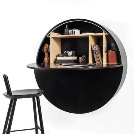 PILL - bureau noir 30.5 x ø 110 cm