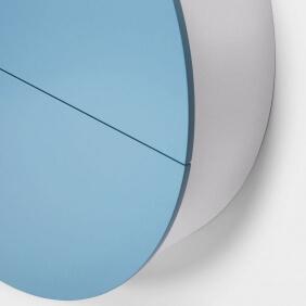 PILL - bureau bleu / blanc 30.5 x ø 110 cm