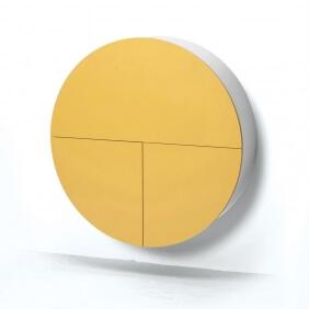 PILL - bureau jaune / blanc 30.5 x ø 110 cm