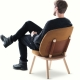 NAIVE LOW CHAIR - fauteuil tissu Kvadrat
