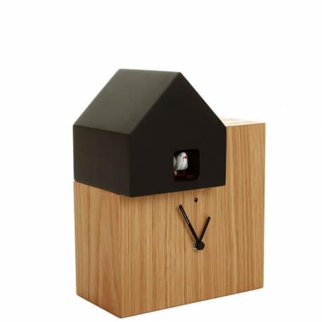 ETTORE - horloge chêne / toit noir