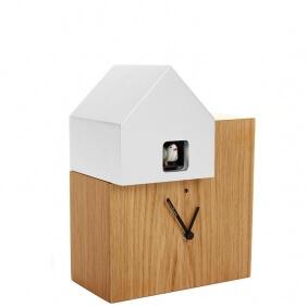 ETTORE - horloge chêne / toit blanc