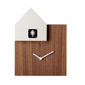 ETTORE - horloge noyer / toit blanc