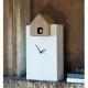 ETTORE - grande horloge blanc / toit chêne
