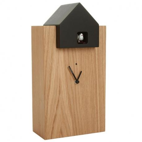 ETTORE - grande horloge chêne / toit noir