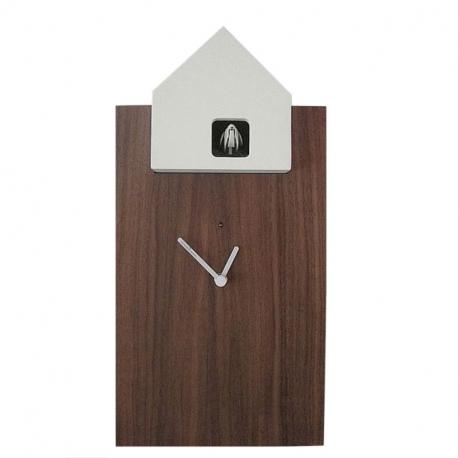 ETTORE - grande horloge noyer / toit blanc
