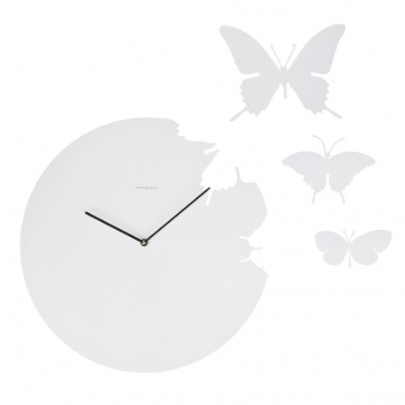 BUTTERFLY - horloge blanche