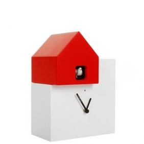 ETTORE - horloge blanc / toit rouge