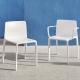 KES - chaise de jardin en polypropylène (lot de 4)